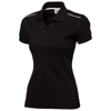 Backhand short sleeve ladies polo in black-solid