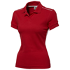 Backhand short sleeve ladies polo in red
