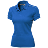 Backhand short sleeve ladies polo in sky-blue