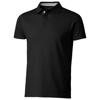 Hacker short sleeve polo in black-solid