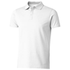 Hacker short sleeve polo in white-solid