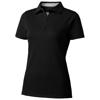 Hacker short sleeve ladies polo in black-solid