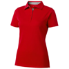 Hacker short sleeve ladies polo in red
