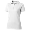 Hacker short sleeve ladies polo in white-solid