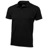 Let short sleeve men's jersey polo in black-solid