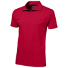 Let short sleeve men's jersey polo in red