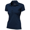 Let short sleeve women's jersey polo in navy