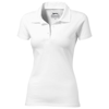 Let short sleeve women's jersey polo in white-solid