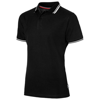 Deuce short sleeve men's polo with tipping in black-solid