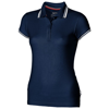 Deuce short sleeve women's polo with tipping in navy