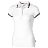 Deuce short sleeve women's polo with tipping in white-solid