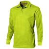 Point long sleeve men's polo in apple-green