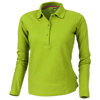 Point long sleeve women's polo in apple-green