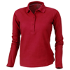 Point long sleeve women's polo in red