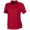 Receiver short sleeve ladies Polo in dark-red