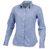 Net long sleeve ladies shirt in blue