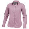 Net long sleeve ladies shirt in red