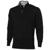 Set quarter zip pullover in black-solid