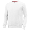 Toss crew neck sweater in white-solid