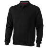 Referee polo sweater in black-solid
