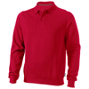 Referee polo sweater in red