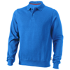 Referee polo sweater in sky-blue