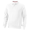 Referee polo sweater in white-solid
