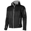 Match softshell jacket in black-solid