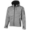 Match softshell jacket in grey