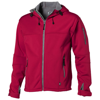 Match softshell jacket in red
