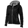 Match ladies softshell jacket in black-solid