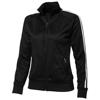 Court Full Zip Ladies Sweater in black-solid