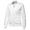 Court Full Zip Ladies Sweater in white-solid