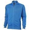 Court  full zip sweater in sky-blue