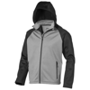 Challenger Softshell in grey-and-black-solid