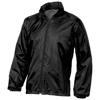 Action jacket in black-solid