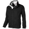 Slice jacket in black-solid