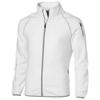 Drop shot full zip micro fleece jacket in white-solid