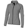 Drop shot full zip micro fleece ladies jacket in grey