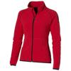 Drop shot full zip micro fleece ladies jacket in red