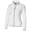 Drop shot full zip micro fleece ladies jacket in white-solid