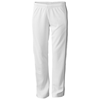Court ladies track pants in white-solid