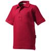 Forehand short sleeve kids polo in dark-red