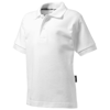 Forehand short sleeve kids polo in white-solid