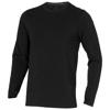 Ponoka long sleeve men's organic t-shirt in black-solid