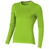 Ponoka long sleeve women's organic t-shirt in apple-green