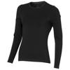 Ponoka long sleeve women's organic t-shirt in black-solid