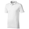 Calgary short sleeve men's polo in white-solid-and-navy