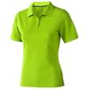 Calgary short sleeve women's polo in apple-green