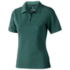Calgary short sleeve women's polo in forest-green